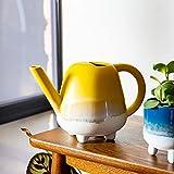 Sass & Belle Mojave Glaze - Regadera (tamaño pequeño), color amarillo