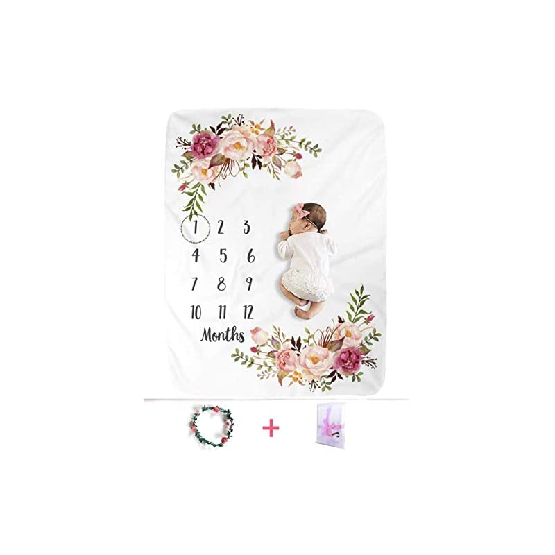 crib bedding and baby bedding xmwealthy baby monthly milestone blankets soft floral memory blankets girls boys cute photo background blankets white