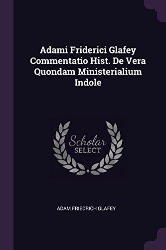 ADAMI FRIDERICI GLAFEY COMMENT