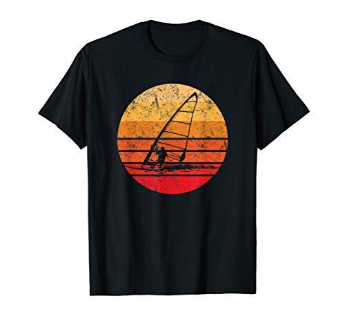 Windsurf T-Shirt Geschenk Retro Vintage Sonnenuntergang T-Shirt