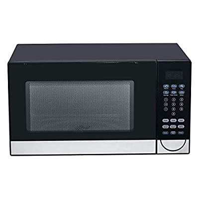 SMETA Microwave Oven Countertop with 6 Automatic Menus, 1.1 Cu.Ft/1000W, LED Display, Child Safety Lock, Black