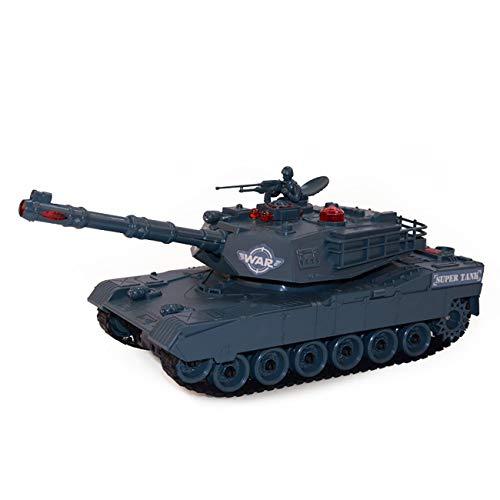 SWETIY Mini Tanque RC, Eléctrico 4 Canales Simulación Tank,con Cable De Carga...