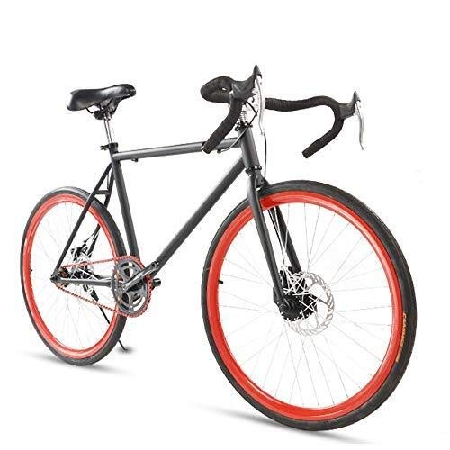 Pumpink Road Bike, Semplice Sport Esterno della Bicicletta for la Bicicletta di Uomini, Donne, Uomini, Uomini di Student Doppio Freno a Disco Sports Car Pneumatico da Corsa 24/26 Pollici