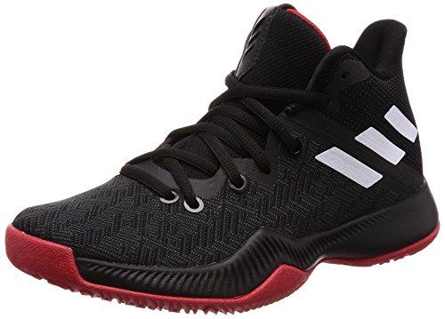 Adidas Mad Bounce J, Zapatillas de Baloncesto Unisex Adulto, Negro (Negbás/Ftwbla/Escarl 000), 36 2/3 EU