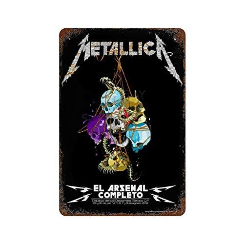 GDRAY Metallica Vintage-Blechschild Metallschild Werbeplakat Geschenk für Mann Höhlen Cafe Bar Pub Bier Wanddekoration Kunst