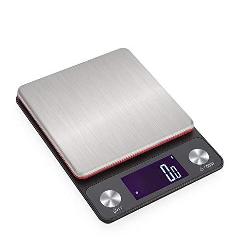 Usb Opladen Hoge Precisie Keukenweegschaal 0.1G Precisie Bakken Gebak Draagbare Elektronische Weegschaal-Batterij Versie 5Kg / 0.1G
