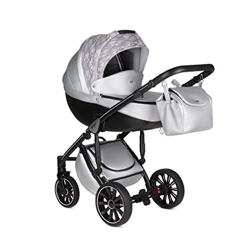 Baby-Kinderwagen-Kinderwagen-Kinderwagen-Reisesystem-Set Anex Sport + Babytasche + Regenschutz + Moskitonetz (3in1, Q1(SE04) Vogue)