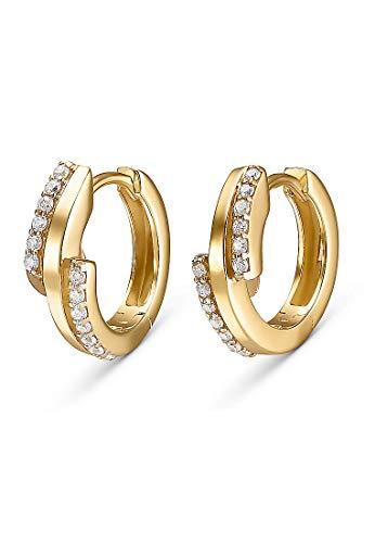 CHRIST Gold Damen-Creole 333er Gelbgold 26 Zirkonia One Size 87524256