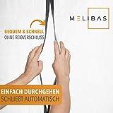 Melibas© Staubschutztür – wiederverwendbar mit Magnetverschluss – 2,2x1,2m – Premium Staubschutzwand aus Pvc – für (Profi-)Heimwerker, Maler