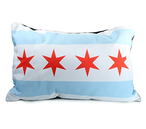 Chicago Flag Dog Bed