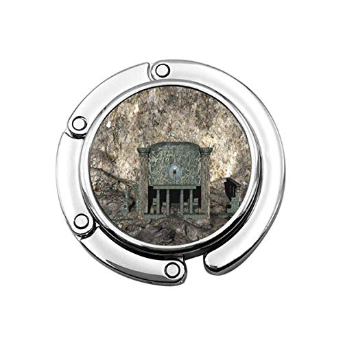 Lindo Colgador Plegable Monedero Gancho Cueva Antiguo Sitio de Culto Renderizado 3D Edificio Columned Hall