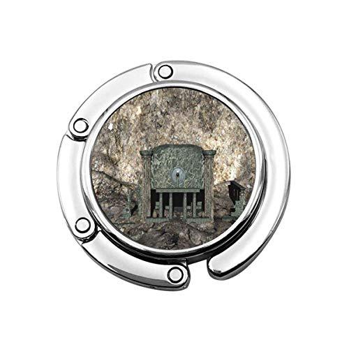 Niedliche Faltbare Geldbörse Kleiderbügel Geldbörse Haken Höhle Alte Kultstätte 3D-Rendering Gebäude Säulenhalle