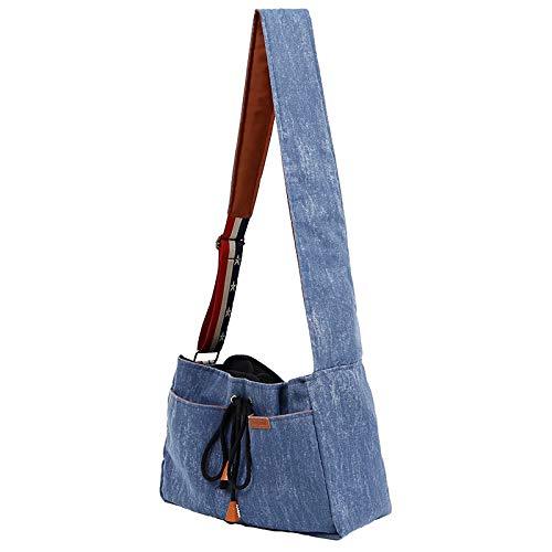猫 犬 キャリーバッグ デニムリメイク おしゃれ 抱っこ紐 だっこひも カバン鞄 ペット バッグ 大容量 お出かけ 無地 調節可能 斜めがけ 小型犬 中型犬 ショルダー 便利 マストアイテム 7.5kg耐久性