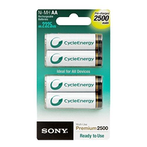 Sony AA (LR6) Akkus, wiederaufladbar, 2.500 mAh, 4 Stück