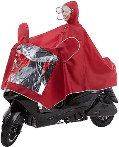 Moto Poncho Alargado a Prueba de Agua Movilidad eléctrica Scooter Motocicleta Capa de Lluvia Grande Capa para una Sola Persona Motocicleta Antiniebla Cubierta Impermeable con Ranuras para Espejos
