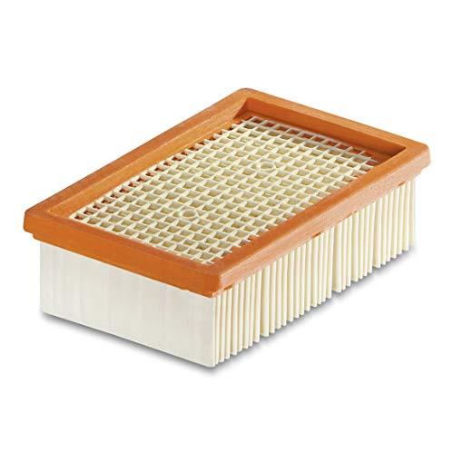 Kärcher Flachfaltenfilter für Kärcher Mehrzwecksauger MV & WD 4 bis MV & WD 6 (schnell und komfortabel austauschbar, ohne Schmutzkontakt, ermöglicht Nass- und Trockensaugen ohne Filterwechsel)