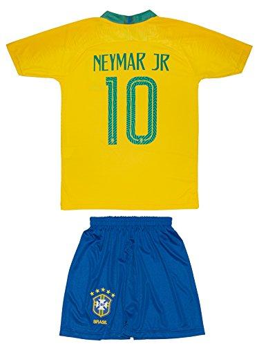 ATB Brasilien #10 Neymar und #11 Coutinho 2018 Heim Kinder Trikot (176, Neymar)