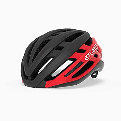 Giro Agilis MIPS Mens Road Cycling Helmet - Medium (55-59 cm), Matte Black/Bright Red (2020)