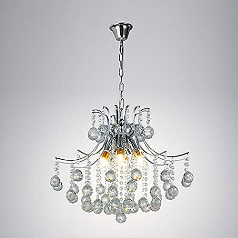 6 Lichter moderne minimalistische Kronleuchter verGoldete Metallkristalllampen