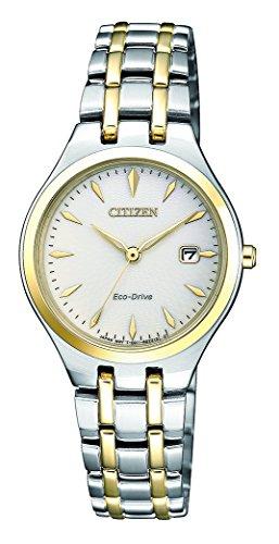 Citizen dames analoog zonne-horloge met roestvrij stalen armband EW2484-82B