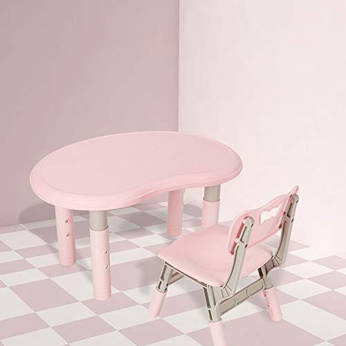 LYXCM Kinderstoel Tafelset, Kinderstoel Lift-Top Stoel Teken Eet Stoel Tafelset voor 2-7 Jaar Oude Jongen Meisje Kleuterschool