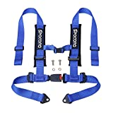 Spocoro RH-0204U-BK-1 4 Point Racing Harness with Ultra Soft Heavy Duty Shoulder Pads, Buckle with...