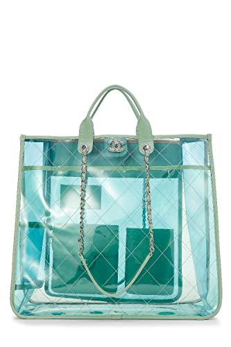 CHANEL Multicolor Quilted Vinyl Coco Splash Shopping Tote Large (Renewed)