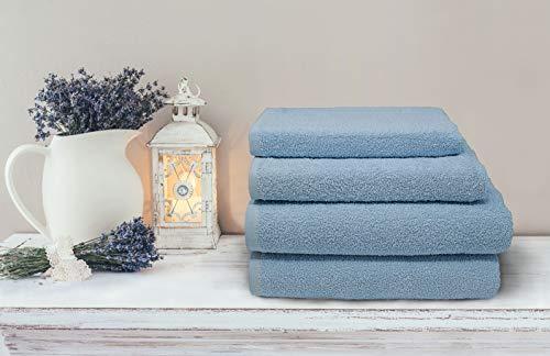 Erika 10-delige set handdoeken 35x55/50x95 cm Perla