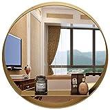 YJT.ysj Espejo Redondo de baño para pasaje, baño, Sala de Estar, etc. - Espejo de Pared iatDiámetro 40-60cm, Dorado