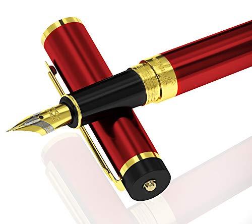 Dryden Luxury Füllfederhalter [Gefährlich Root] | Moderne Klassik Limited Edition | Executive Füllhalter Set | Vintage Kugelschreiber Collection | Business-Geschenkstift |
