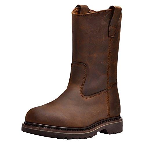 Insun Insun Unisex Erwachsene Stiefel Winter Boots Winterstiefel Schuhe für Herren Damen Braun 35