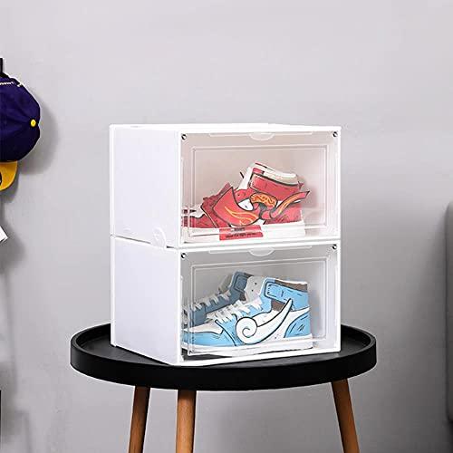 4 – 12 Caja de almacenamiento con cierre magnético transparente, 4 unidades, color blanco, Estados Unidos