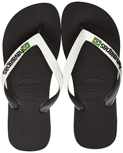Havaianas Brasil Mix, Chanclas Unisex Adulto, Multicolor (Black/White), 43/44 EU
