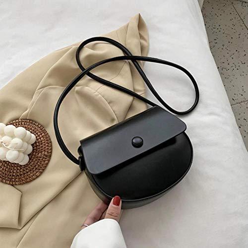 PANZZ Solid Color Bag Crossbody Bags Women Summer Shoulder Handbags, Black, Mini