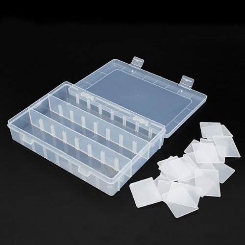 Tool Storage Case with 21 Adjustable Compartments Organiser Plastic Case Holder