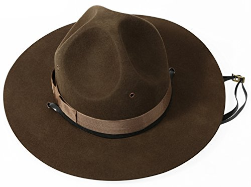 Rothco Military Campaign Hat, Brown, 7.75