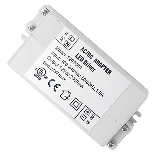 VARICART IP44 12V 2A 24W LED Treiber, Universal Reguliertes AC DC Schaltnetzteil, Konstanter Spannungswandler Adapter für CCTV Kamera Neonleuchte G4 MR11 MR16 GU5.3 Glühbirne (1-er Packung)