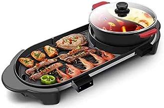 BBQ et fondue, ensemble multifonctionnel facile à nettoyer, casserole électrique rectangulaire à deux avantages, plaque de...