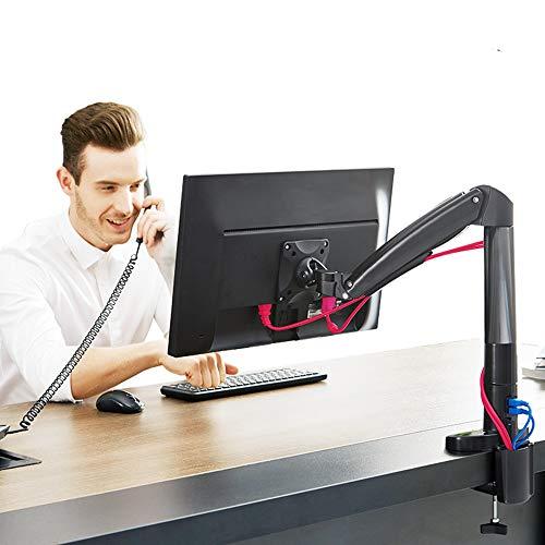 LXUA Monitor Halterung Monitorständer Computerständer Desktop-Aufzug Monitorständerarm Rotate Computer-Bildschirm Standplatz 22-35 Zoll schwarz Multifunktionale Faltbare Adjustment