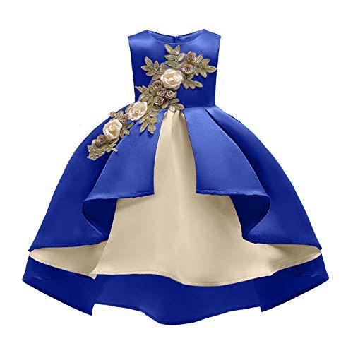 COMISARA Easter Dresses for Little Girls Kids Flower Girl Dress Size 2t 3t Teen Christmas Elegant Paegant Party Wedding Fancy Prom Formal Ball Gown Dresses for Toddler Girls (Royal Blue 100)