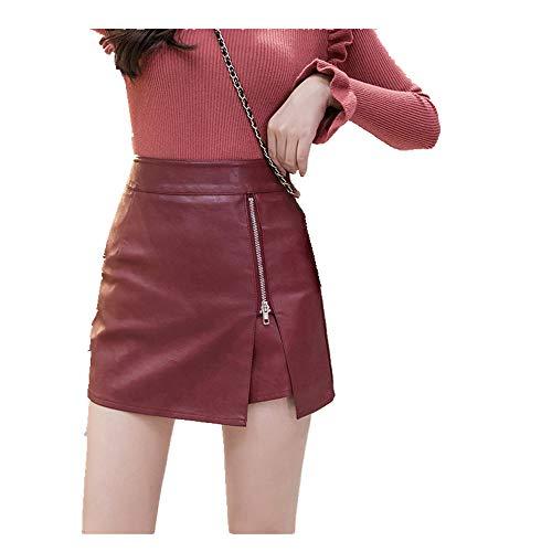 N\P Las mujeres pantalones Cortos Faldas Otoño Invierno Cintura Alta Lateral Cremallera Ranura Pantalones Cortos Mujeres Señora Sexy Pantalones Cortos Faldas