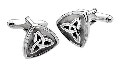 Heritage Sterling Silber und oxydiert Trilogy Keltisch Knoten Manschettenknöpfe