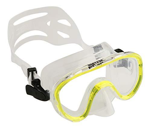SEAC Marina, Maschera Subacquea Slt per Snorkeling e Gioco in Mare Unisex Bambini, Giallo, Piccola
