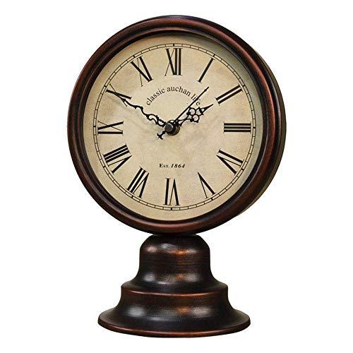 Pkfinrd Reloj Despertador país Europeo Retro Nostalgia Mesa Reloj Metal Reloj Reloj Reloj 1 9cm * 27cm