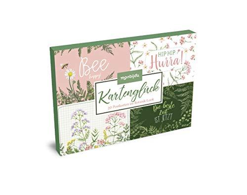 Kartenglück – 30 Postkarten im Botanik-Look (monbijou)