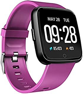 $25 » Metermall Fitness Tracker Blood Pressure Watch Pedometer Bluetooth Smart Band Wristband Heart Rate Monitor Sports Bracelet purple
