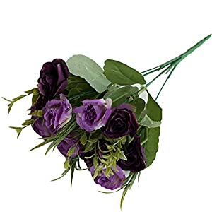 Artificial Flowers, 10 Heads Fake Rose Begonia Flower Wedding Banquet Party Home Decor