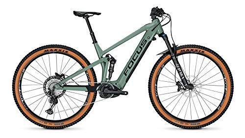 Focus Thron² 6.9 Bosch Fullsuspension Elektro Mountain Bike 2021 (M/44cm, Mineral Green)