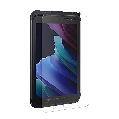 EIGER Protector de pantalla de cristal templado 2.5D para Samsung Galaxy Tab Active3 transparente con kit de limpieza
