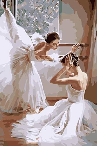 Pintar Por Numeros Prensa De Piernas De Ballet Pintura Para Pintar Por...